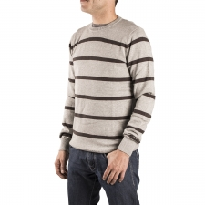 Bench Jersey Rayas Gris Hombre
