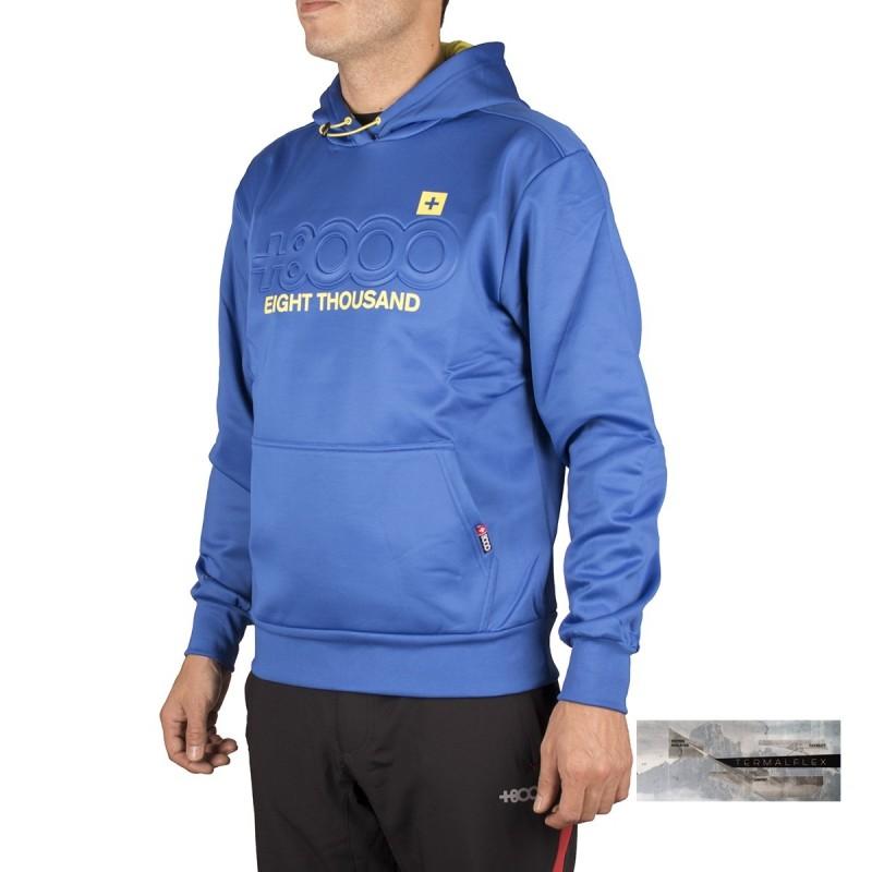 +8000 Sudadera Asago Azul Real Hombre