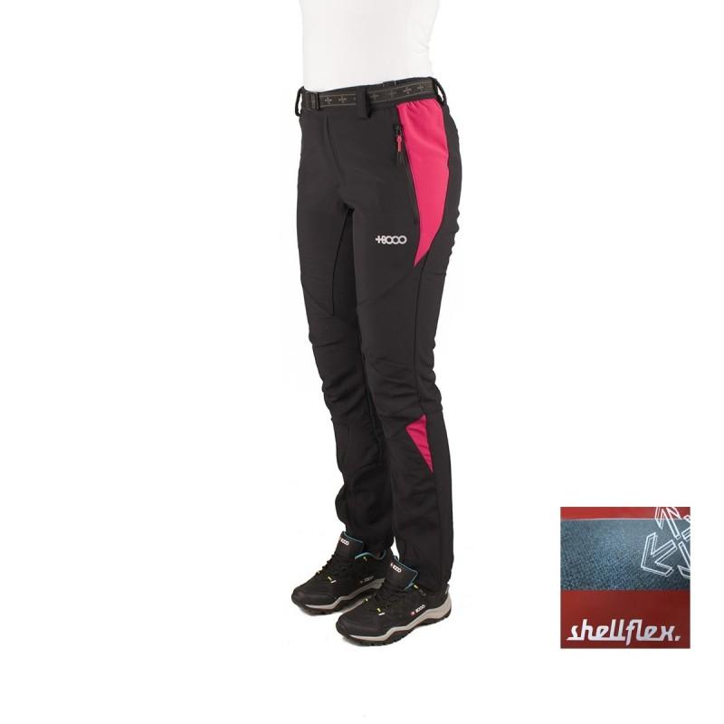 +8000 Pantalón Crestas 16I Negro Frambuesa Mujer