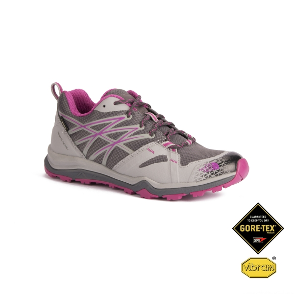 3e9330d4 The North Face Zapatilla Hedgehog Fastpack Lite GTX Grey Pink Mujer