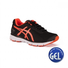 Asics Gel Impression 9 Black Shocking Orange Silver Hombre