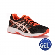 Asics Gel Contend 4 Black Silver Flash Coral Mujer