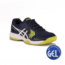 Asics Gel Dedicate 5 Clay Indigo Blue White Safety Yellow Hombre