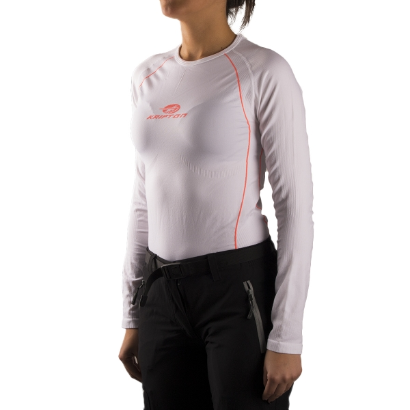 Kripton camiseta térmica Pyros Blanco Mujer