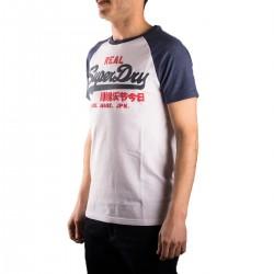 Superdry Camiseta Vintage Logo Raglan Tee Hombre