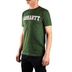 Carhartt Camiseta College Fir White Verde Hombre