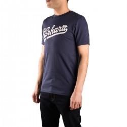 Carhartt Camiseta Vintage Blue White Azul Hombre