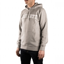 Carhartt Sudadera Hooded College Sweat Grey Heather White Gris Hombre