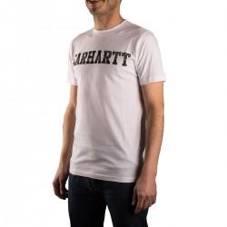 Carhartt Camiseta College Blanca Camuflaje White Camo Tiger Laurel Hombre