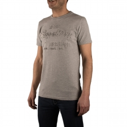 Superdry Camiseta Vintage Logo Embrossed Tee Grey Marl Gris Hombre