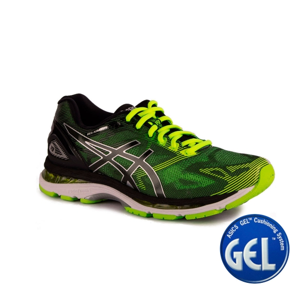Asics Gel Nimbus 19 Black Safety Yellow Hombre