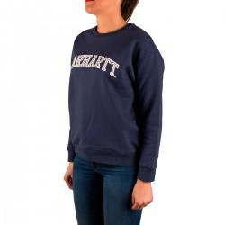 Carhartt Sudadera Yale Sweat Blue White Azul Mujer