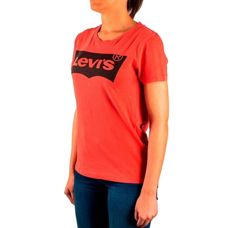 Levis Camiseta The Perfect Tee Rojo Desgastado Mujer