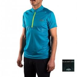 +8000 Camiseta MifesTurquesa Estampado Hombre