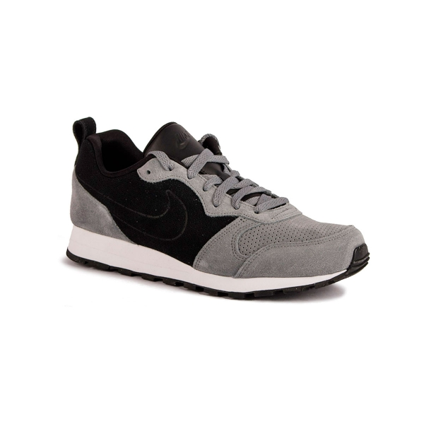 Nike MD Runner 2 Leather - Zapatillas para Hombre, White/Black, 46