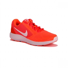 Nike Wmns Revolution 3 Hypr Orange White Atmc Pink Bright Mujer