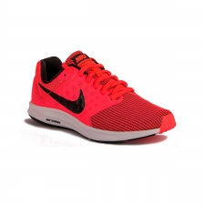 Nike Wmns Downshifter 7 Hot Punch Black White Rosa Fluor Mujer