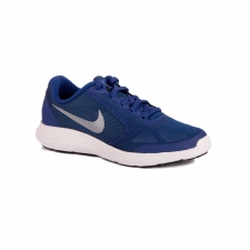 Nike Revolution 3 GS Dp Royal Mtlc Cl Grey Black White Niño