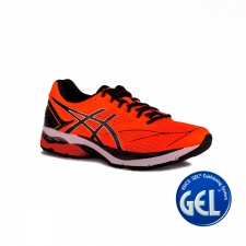 Asics Gel Pulse 8 Shocking Orange Black White Naranja Fluor Hombre