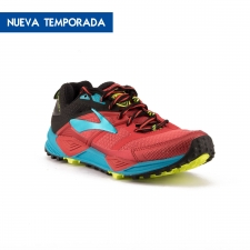 Brooks Cascadia 12 High Risk Red Black Vivid Blue