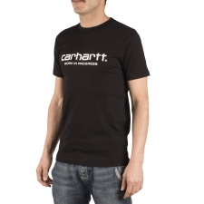 Carhartt Camiseta Wip Scrpt Work in Progress Negro Black Hombre