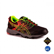 Asics Gel Sonoma 3 GTX Vermilion Black Safety Yellow Hombre