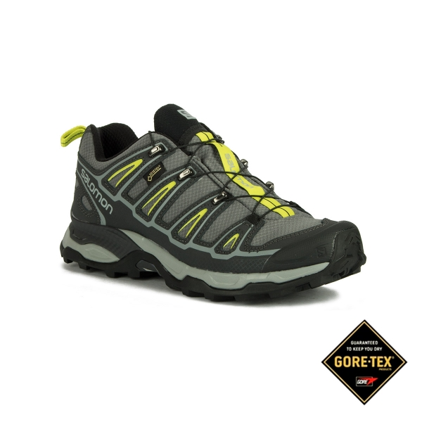 Salomon Zapatilla X Ultra 2 GTX Quiet Shade Black Lime Punch Hombre