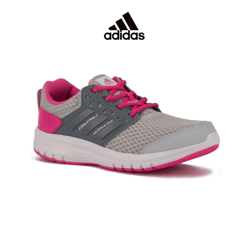 adidas gris y rosa