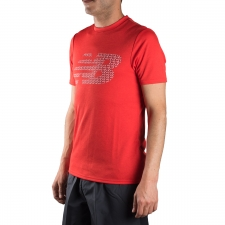 New Balance camiseta Tech Training Visaro Graphic Atomic Heather Hombre