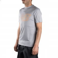 New Balance camiseta Tech Training Visaro Silver Mink Heather Gris Hombre