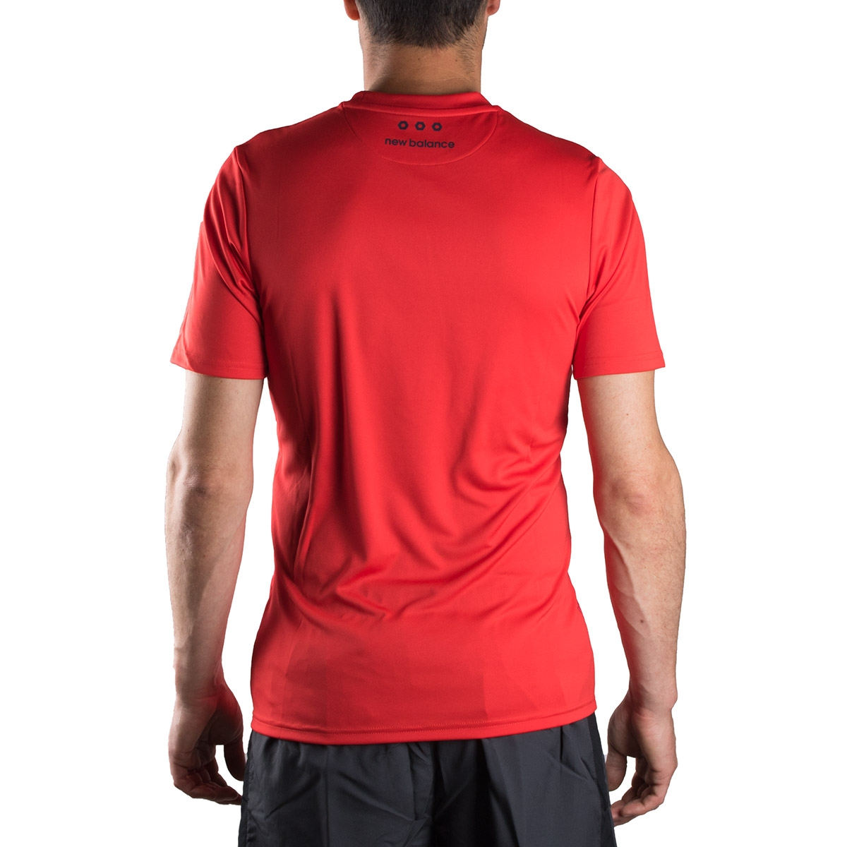 New Balance camiseta Tech Training Furon Graphic SS ACC Rojo Hombre