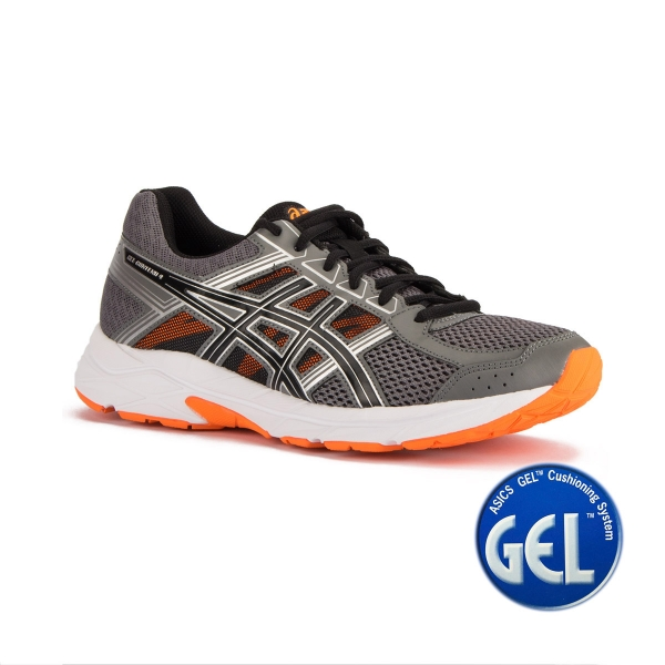 f8da93b8405 Asics Gel Contend 4 Carbon Black Hot Orange Gris Naranja Hombre