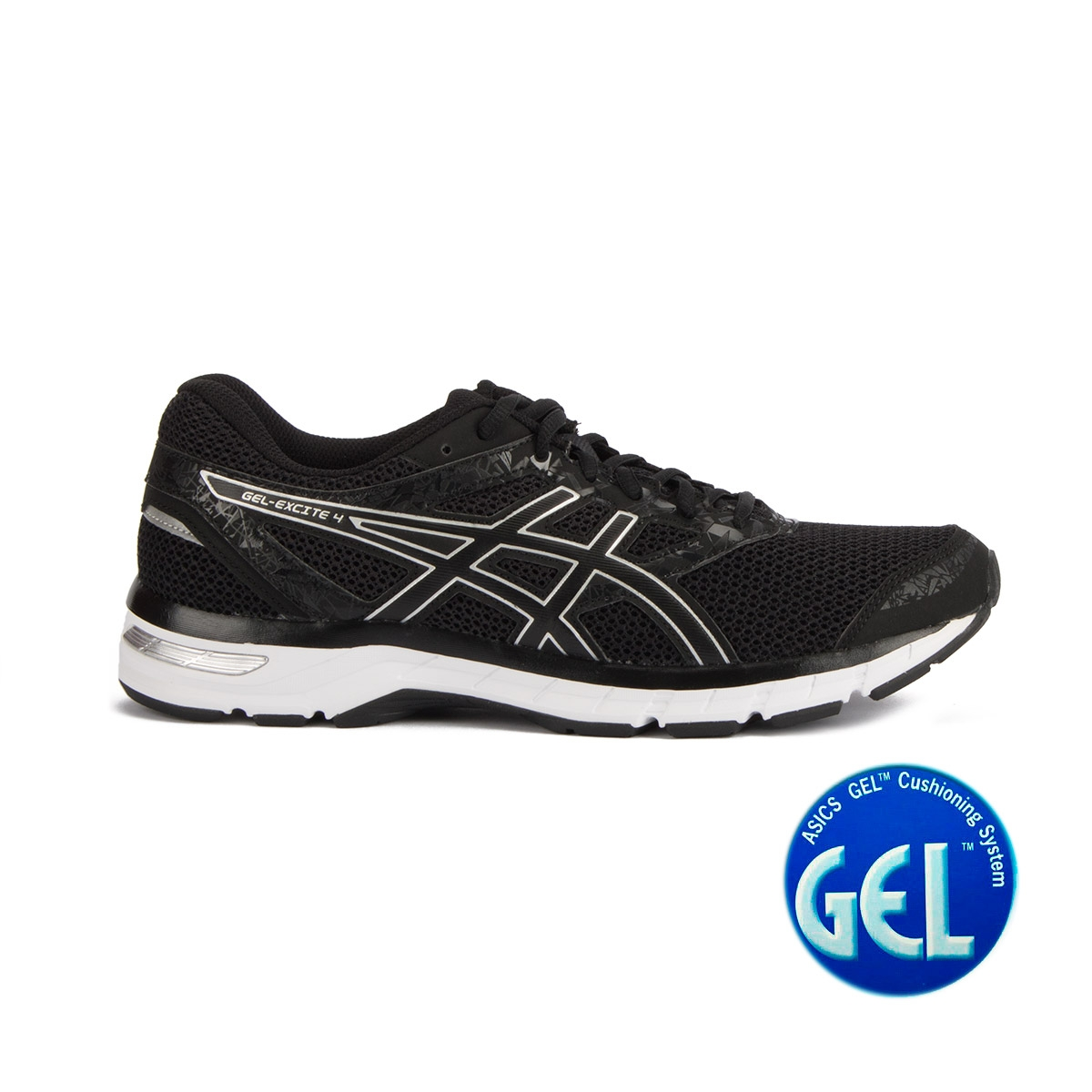 Asics Gel Excite 4 Black Onix Silver Negro Hombre