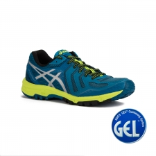 Asics Gel FujiAttack 5 Thunder Blue Silver Safety Yellow Hombre
