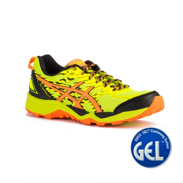 Asics Gel FujiTrabuco 5 Safety Yellow Orange Amarillo Naranja Hombre