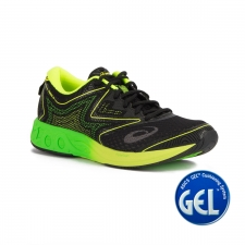 Asics Noosa FF Black Green Gecko Safety Yellow Negro Verde Hombre