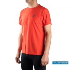 Asics camiseta SS Top Fiery Red Running Essentials Hombre