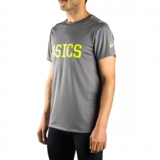 Asics camiseta SS Graphic Tee Shark Gris Sports Essentials Hombre