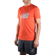 New Balance camiseta Take Down Training SS Naranja Hombre