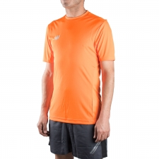 New Balance camiseta Tech Training Best SS Lava Naranja Hombre