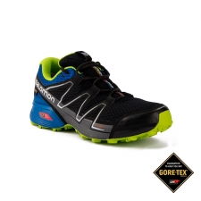 Salomon Zapatilla Speedcross Vario GTX Black Blue Yonder Granny Green Hombre