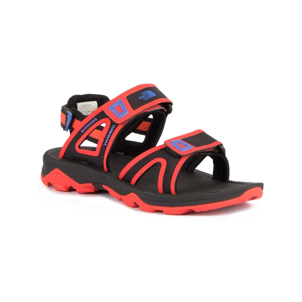 The North Face Sandalia Hedgehog II Black Cayenne Red Negro Rojo Mujer