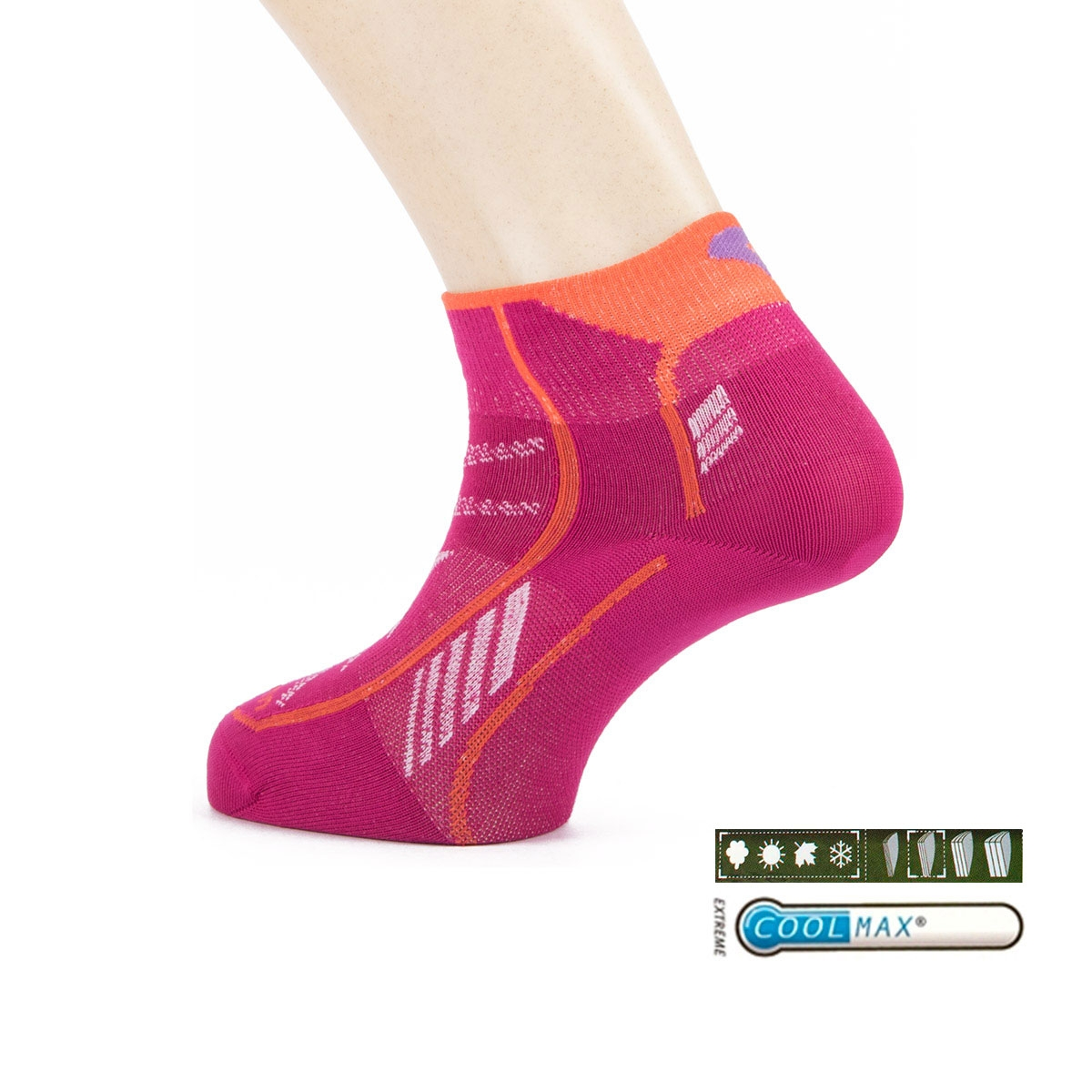 Lorpen Calcetín T3 Ultratrail Running Padded Berry