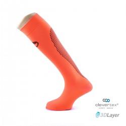 Sportlast calcetin running naranja neon largo