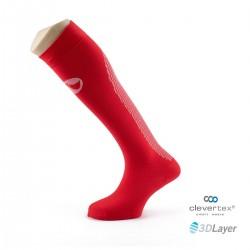 Sportlast calcetin running rojo blanco largo