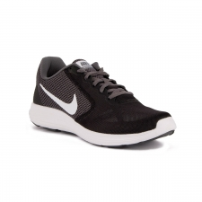 Nike Revolution 3 Black White Dark Grey Negro Gris Hombre
