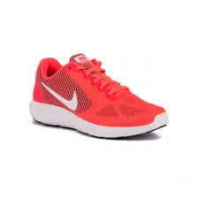 Nike Wmns Revolution 3 Solar Red White Black Mujer