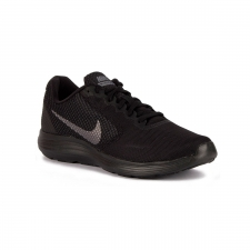 Nike Revolution 3 Black MTLC Dark Grey Negro Hombre