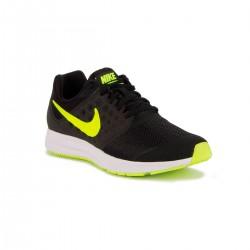 Nike Downshifter 7 GS Black Volt White Negro Amarillo Neon Niño