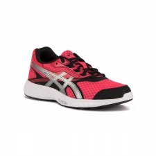 Asics Stormer Rouge Red Silver Black Rosa Negro Mujer
